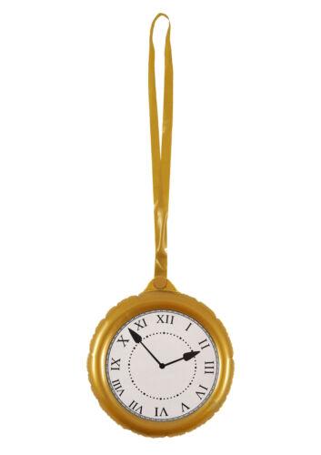 Gonflable Jumbo Horloge Avec Collier 24.5 cm-Alice au pays des merveilles Costume Prop