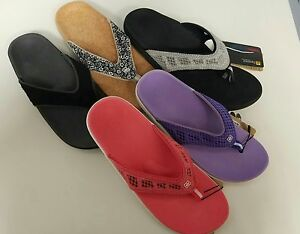 Womens Spenco Arch Support Sandals Flip Flop Thong Shoes