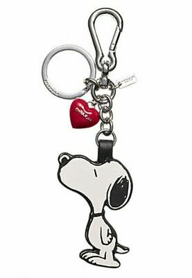 NWT Coach Peanuts Snoopy Woodstock Leather Bag Charm Hang Tag Key Chain FOB