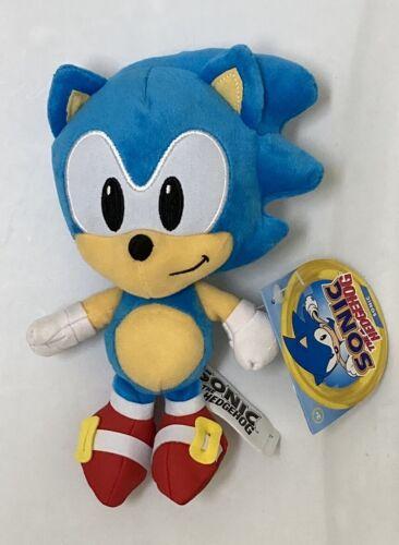 """BNWT Jakks Sonic The Hedgehog-Sonic 7/"""" pequenos Brinquedo De Pelúcia"""