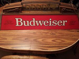 vintage budweiser worlds champion clydesdale team pool table light. Black Bedroom Furniture Sets. Home Design Ideas