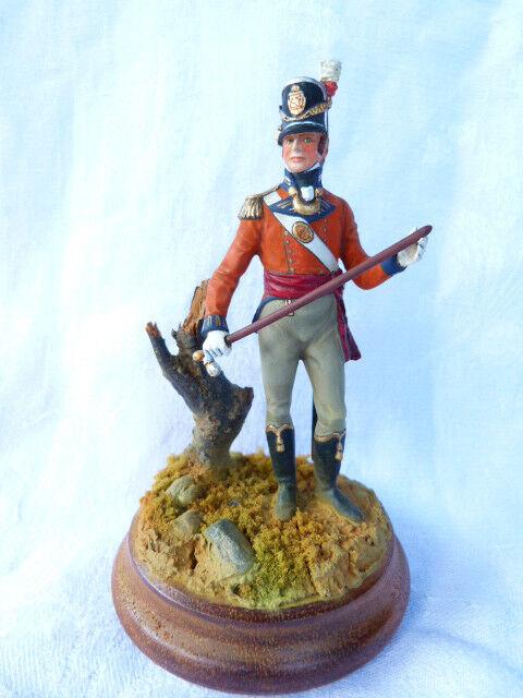 Soldat de plomb 80mm - britischer offizier (könig der eigenen linie infanterie - regiments 1815