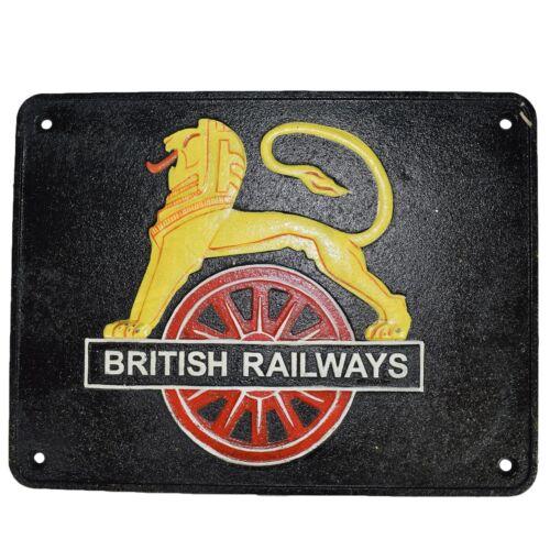 British Railway Lion Zeichen Schild Plakette an der Wand Zaun Tor Zug