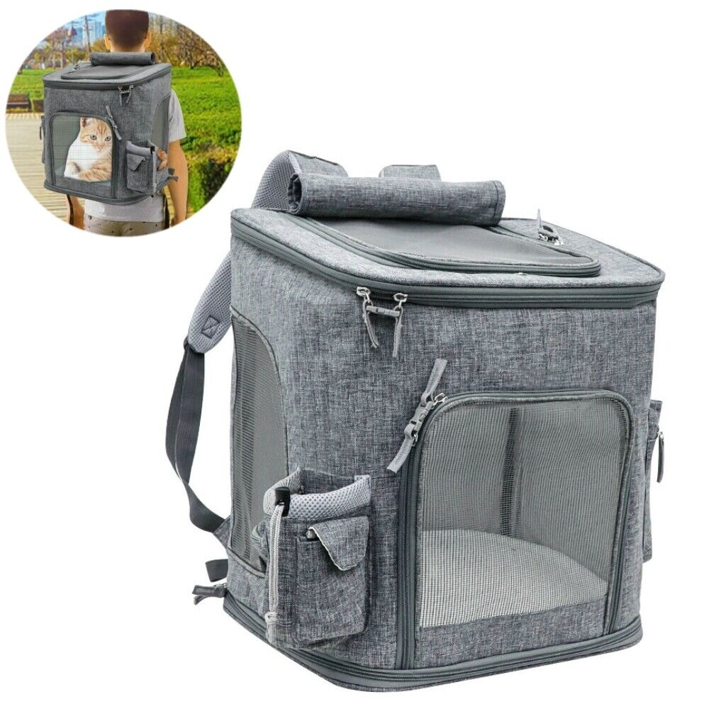 Cat Carrying Carrying Carrying Extra Large Capacity Pet Backpack Dog Breathable Pet Carrier Travel 888fd0