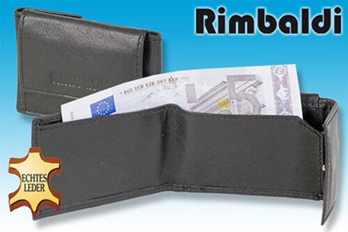 Rimbaldi ® Micro porte-monnaie en noir en cuir naturel