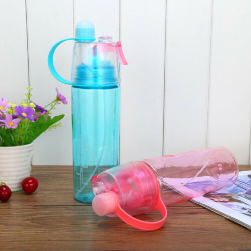 600ML Sport Camping Hiking Mist Spray Water Keep Face Wet Bottle Drinking Cup G0