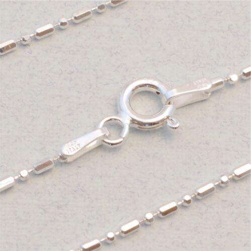 CS109-18 18 Inch Sterling Silver 1.2mm ALTERNATING Diamond Cut Ball Chain
