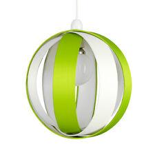 Modern Round Green + Cream Layered Ceiling Light Pendant Shade Lounge Lighting