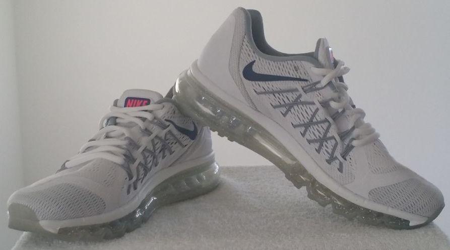 Nike Air max iD Womens Running Shoe Size 7.5W White/Blue/Grey