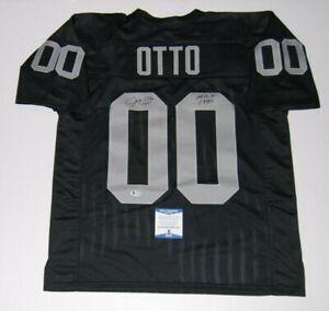 JIM OTTO signed (OAKLAND RAIDERS) #00 custom L football jersey ...