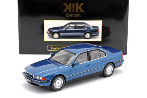 BMW 740i E38 1.Serie Baujahr 1994 blau metallic 1:18 KK-Scale