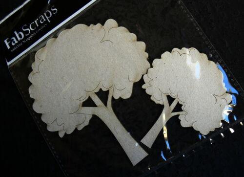 2 Style Choice Fab Scraps GH CHIPBOARD DieCut GUITAR /& FLUFFY TREES