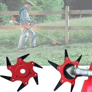 6-Steel-Blade-Razors-65Mn-Lawn-Mower-Grass-Eater-Trimmer-Head-Brush-Cutter-Tools