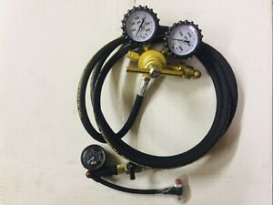 Shock Nitrogen Regulator 9' Hose 600psi W// No Loss Air Chuck Shock Tool Fox King