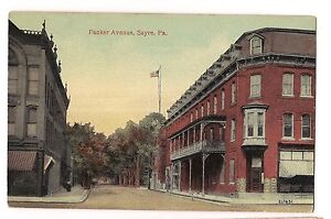 Image Is Loading Packer Avenue Ave Wilbur Hotel Sayre Pa Postcard