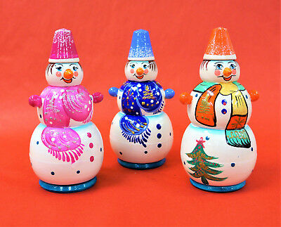 "Collectible Hand Painted Snowman Nesting Doll Matreshka 5.5"" Tall Strengthening Sinews And Bones one Objective Ass."