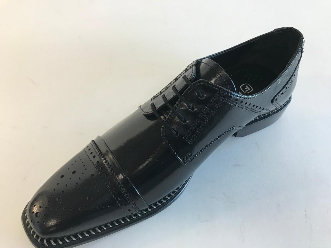 fornire un prodotto di qualità Nuovo da Uomo Liberty pelle pelle pelle Cappello Punta Formale Nero Scarpe Eleganti 951  disponibile