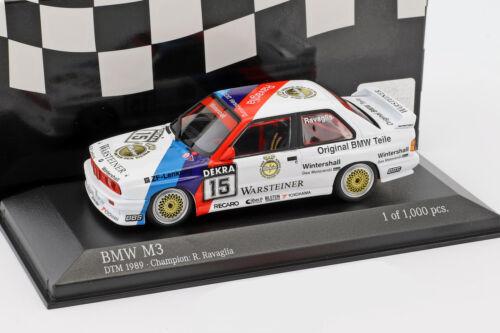 E30 #15 DTM Champion 1989 Roberto Ravaglia 1:43 Minichamps BMW M3