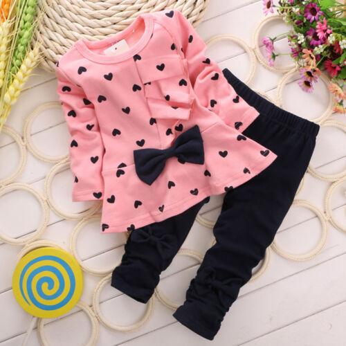 Hose Kinder Kleidung Baby Mädchen 2Tlg Outfits Set Minnie Mouse Top Sweatshirt
