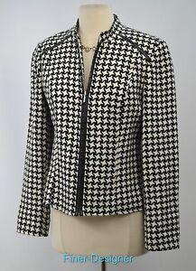 Coat Light Boutique Blazer Blend Suit Essentials Vtg Wool Zip 8 New Full Jacket wOqIqXgr