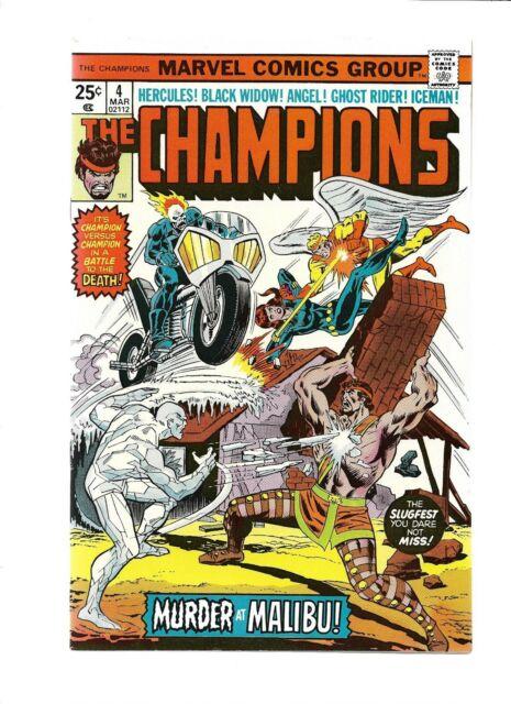 Champions 4 5 6 7 intr Rampage 1st app Darkstar Black Widow Ghost Rider Hercules