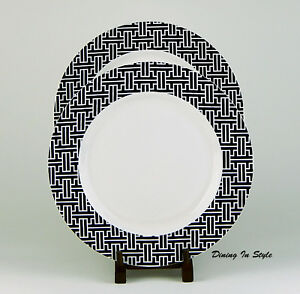 Image is loading Set-of-2-Dinner-Plates-Martha-Stewart-Collection-  sc 1 st  eBay : martha stewart dinner plates - pezcame.com