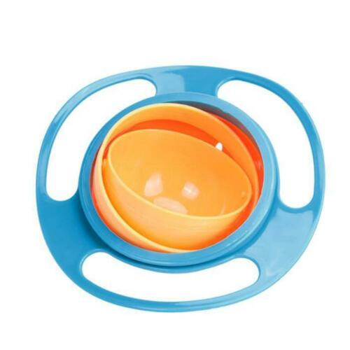 Baby Universal 360 Rotating Spill-Proof Gyro Bowl Feeding Dishes BE