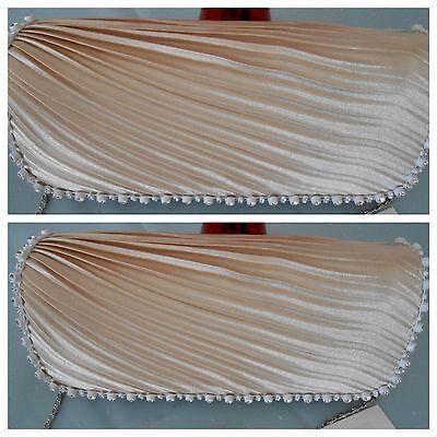 Freundlich Hochzeit Theater Damentasche,abendtasche,bag Mit Kette,clutch,champagner Jade Weiß Kleidung & Accessoires Kleidung & Accessoires