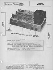 1949 COLLINS 45-D RADIO SERVICE MANUAL PHOTOFACT SCHEMATIC TUBE DIAGRAM REPAIR