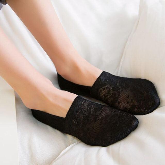 1 Pair Women Lady Lace Ruffle Fishnet Short Ankle Socks Stockings Mesh /_CH