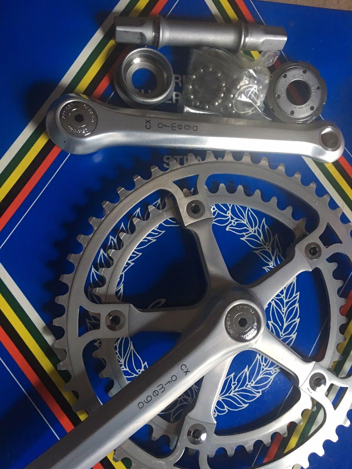 NOS CX Ofmega COLNAGO Road Bike Crankset 42 52T Double Vintage Bicycle 170mm