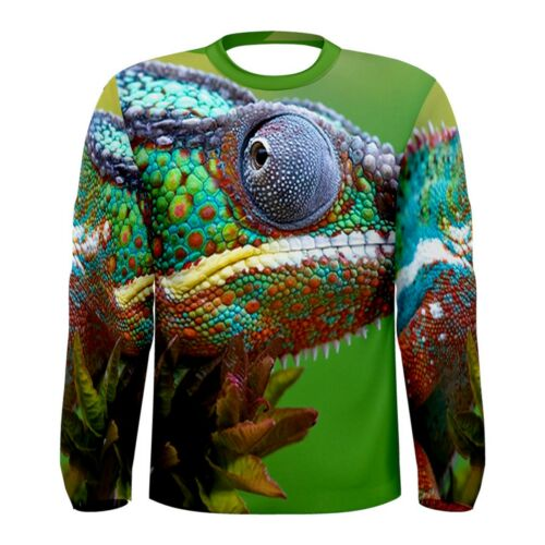 New Chameleon colorful Sublimated Men/'s Long Sleeve T-shirt S M L XL 2XL 3xl