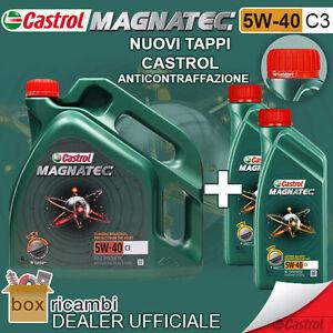 Olio-CASTROL-MAGNATEC-5W40-C3-Motore-DIESEL-BENZINA-6-LT-Litri-CASTROL-ITALIA