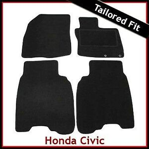 HONDA-CIVIC-TYPE-S-Pre-facelift-Mk8-2006-2008-Tailored-Carpet-Car-Mats-BLACK