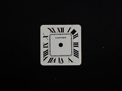 Original Vintage Cartier Watch Matte White Square Date Dial Diameter New
