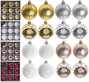Confezione-da-9-6cm-60mm-Albero-di-Natale-Decorazioni-da-appendere-palline-natale-Arredamento-di