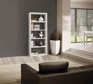 Libreria alta bianca moderna frassinato 574 per soggiorno o ufficio ...