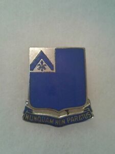 Authentic-WWII-US-Army-185th-Infantry-Regiment-DUI-DI-Unit-Crest-Insignia-NH