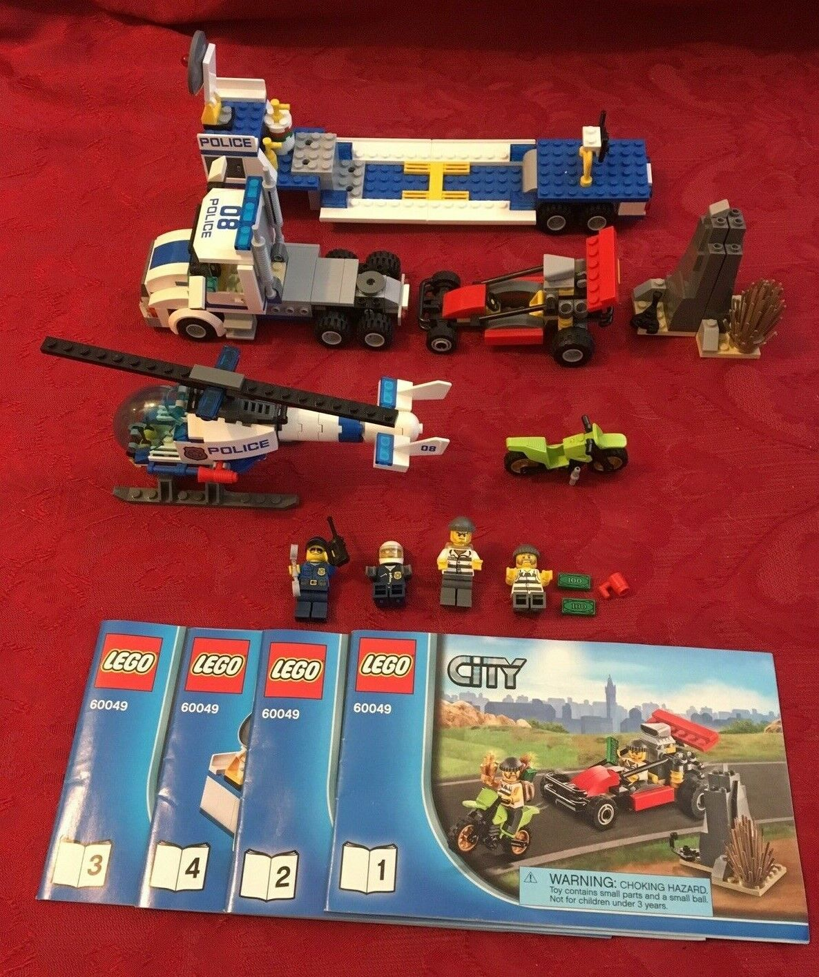 LEGO 60049 City Helicopter Transporter 100% Complete No Box