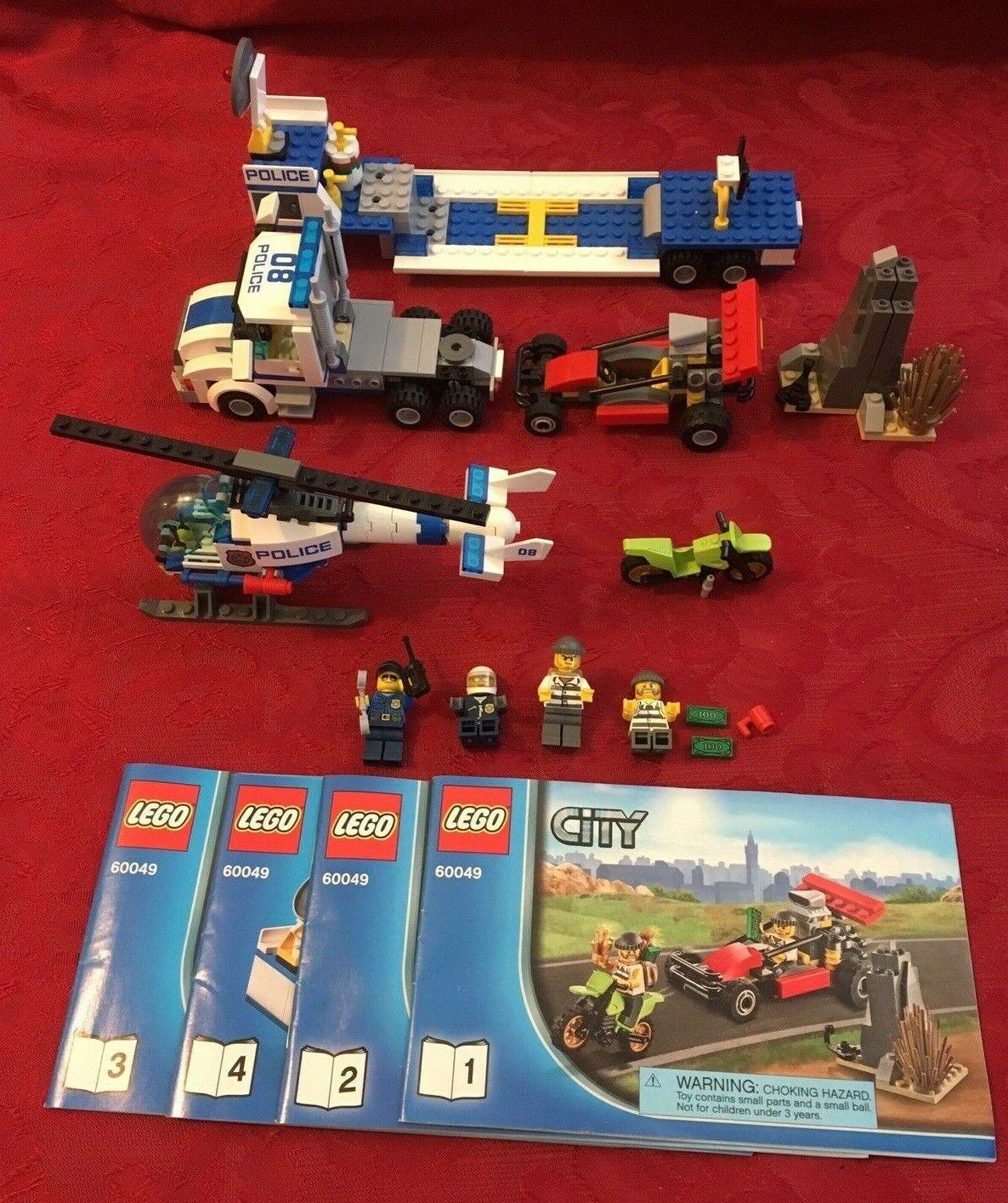 Lego 60049 city Hélicoptère Transporteur 100% complete  no box  la meilleure offre de magasin en ligne