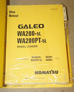2004-Komatsu-WA200-WA200PT-Wheel-Loader-Shop-Manual-Parts-Book-P-N-CEBM013001