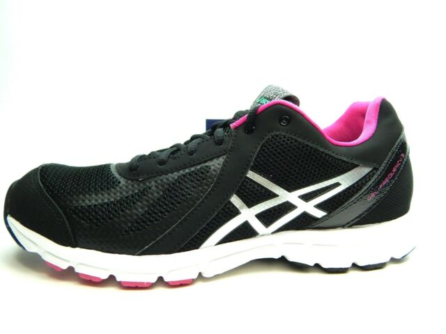 black and pink asics
