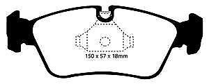 DP31211C EBC Redstuff FRONT Brake Pads fit 325 325X (4WD) 328 Z3 Roadster S (E85