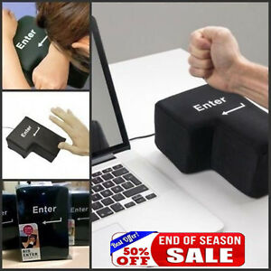 Big-Enter-Anti-Stress-Relief-Button-USB-Nap-Pillow-Supersized-Unbreakable-KG2