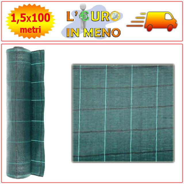 RETE TELO PER PACCIAMATURA METRI 100 x H 1,5 MT 100% POLIPROPILENE coloreE verde