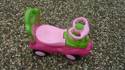 Rutschauto Mit Holzklötze,hupe,rückenlehne,große Räder,rot,pink,grün Schmerzen Haben Spielzeug Bobby Car