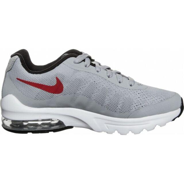 JUNIOR Nike Air Max invigor GS Scarpe Da Ginnastica Grigio Rosso 749572 013 UK 6 EU 39