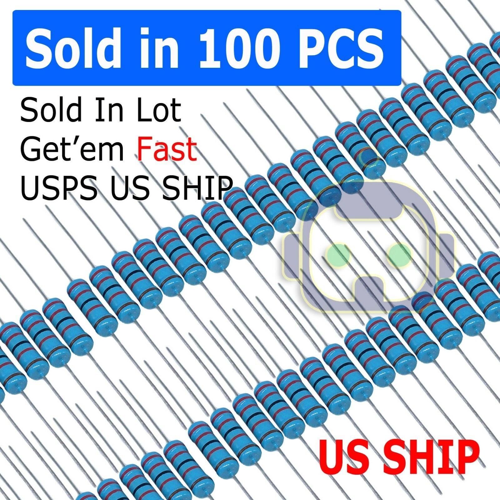 Pack of 100 SMD 1//4watt .08ohms 1/% Current Sense Resistors WSL1206R0800FEA