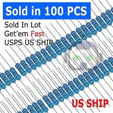 100pcs 14w 025watt Metal Film Resistor 1 1 To 91m Ohm Resistance Usa