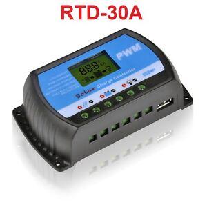 Cargador-Controlador-30A-12V-24V-USB-5V-Carga-Panel-Solar-Regulador-LCD-RTD-30A